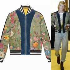 New Gucci Flora Snake print silk bomber jacket Quilted RRP £2400 Medium