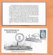 FALL RIVER PEX NOV 11,1985 PLYMOUTH FALL RIVER LINE NAVAL COVER