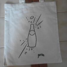 Sac coton ou Tote bag publicitaire Perrier l'eau qui pétille - NEUF
