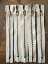 5 x 7 Inch Brass Jeans Trouser Zip Exposed Closed End 18cm Metal Bag Purse Craft