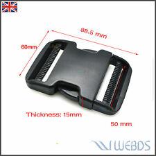 "2"" 50mm Side Release Buckles Dual Adjustable Padded Patrol Belt Luggage Strap"