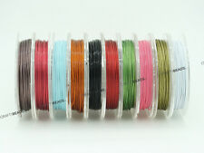 0.45mm Tiger Tail Nylon Coated Steel Beading Wire 25 Gauge - Assorted 10 Spools