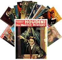 Postcards Pack [24 cards] Houdini Magician Kellar Vintage Show Posters CC1086