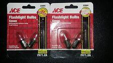 2-2Pks Xenon Flashlight Bulb Replacement for Rechargable Lanterns - 2V/1.2A
