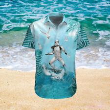 Funny Stormtrooper Surfing Beach Star Wars Hawaiian Shirt Unisex S-3XL