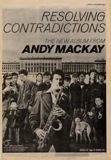 Andy Mackay Roxy Music Contradictions UK LP advert 1978