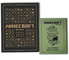 Minecraft Annuals 2017 and The Survivors Book of Secrets 2 Books Collection New