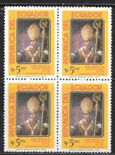 ECUADOR 1984 JOSE MARIA DE JESUS YEROVI BLOCK OF 4 SC # 1062 MNH