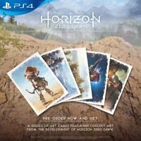 HORIZON ZERO DAWN ART CARDS - RARE PRE-ORDER BONUS - NEW - FREE UK POST