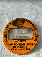 Gene Autry Person Guest 1940 Worlds Championship Rodeo Boston