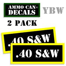 .40 S&W Ammo Label Decals Box Stickers decals - 2 Pack BLYW