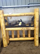 Twin size log bed