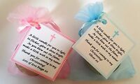 1-100 CHRISTENING FAVOURS vanilla candle tealights - personalised gifts Baptism