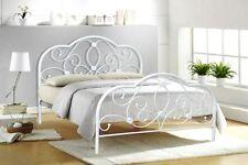 4FT6 Double Lit en métal blanc Alexis Modèle Meubles de chambre