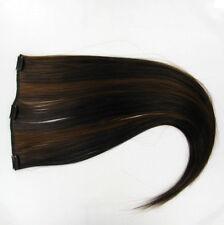 extensions à clips peruk cheveux chocolat méché cuivré ref: 6h30