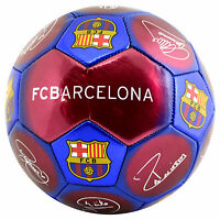 FC BARCELONA Size 5 Ball Signature Football Claret & Blue Gift
