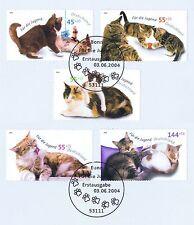 BRD 2004: Katzen! Jugendmarken Nr. 2402-2406 mit den Bonner Sonderstempeln! 1803