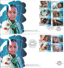 FDC E 629 , E629 UNICEF op 2 fdc's