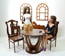 NEW Set furniture Wooden for Dolls 1/6 12 in FR Barbie handmade Diorama ideal
