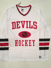 New Jersey NJ Devils Vintage Starter Throwback Jersey XL