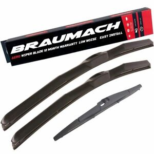Wiper Blades Hybrid Aero For Daewoo Musso SUV 1998-2002 FRONT PAIR & REAR