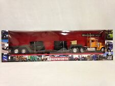 "Kenworth W900 Lowboy Trailer w/Big Tire Collect 23"" Diecast 1:32 New Ray Toy OR"