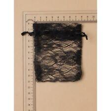 12 Black Lace Favour Bags Wedding Party Confectionary 10x7.5cm