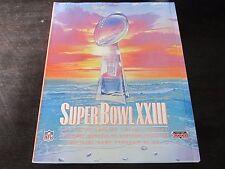 Super Bowl XXIII Program 1989 Cincinnati Bengals vs San Francisco 49ers Miami Fl