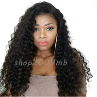 Pre Plucked Lace Front Wig Brazilian Deep Wave Wavy Wigs+Baby Hair Bleached Knot