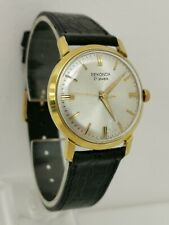 Vintage 1960s Sekonda 21 Jewel Cal Poljot 2409 Gents Gold Plate Wrist Watch