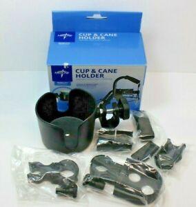 Medline Walker Cup & Cane Holder for Wheelchairs Walkers & Rollators Adjustable