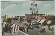 1910 Era Street Carnival Williston North Dakota Printed Postcard Merry Go Round