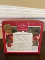 New Lenox Radiant Light Santa Votive Christmas Sleigh Tea Light Candle Holder