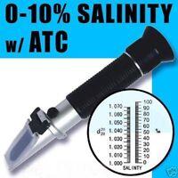 Portable 0-10% Salinity Salt Water Refractometer for Aquarium Fish Hydrometer