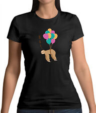 Floating Sloth - Womens T-Shirt - Animal - Cute - Sloths - Adorable - Love
