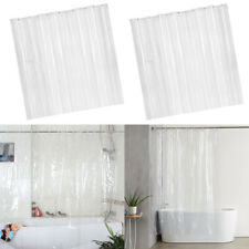 2 Pieces Mildew Resistant Shower Curtains, Clear Bathroom Curtain Liner