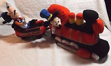 PLUSH  WALT DISNEY 2 PIECE TRAIN  22 IN  LONG WHEN CONNECTED ENGINE & COAL CAR