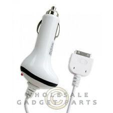 Apple iPhone 4/i4S Car Charger-White Case Cover Shell Protector Guard Shield