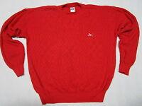 Puma Pullover Pulli Sweatshirt Sweater Strick Knit VTG Vintage Rot Red 8 ca L-XL