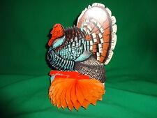 Vintage Thanksgiving Turkey Paper Tissue Centerpiece Antique Made in USA