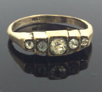 Antique Ring Paste Stones Rolled Gold Hallmarked Beautiful