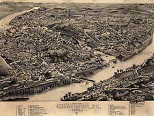 Mappa Sherbrooke 1881 VINTAGE 12 x 16 cm art print poster foto hp2217