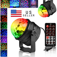 Disco Party Light Sound Activated Stage Strobe LED DJ Lighting Ball 7 Modes Lamp