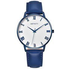 Infinity NB 07 Blue Desire Women Minimalist Watch - Leather Belt - Fashion Watch