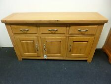 New Large Contemporary Chunky Oak 3 Door 3 Drawer Sideboard *Morris Furniture*
