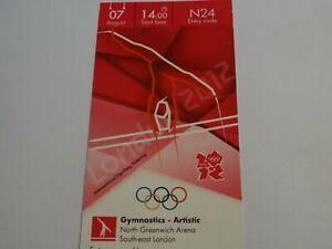 London 2012 Olympic Games ORIGINAL GYMNASTICS ARTISTIC ticket 7 AUG CAT AA!