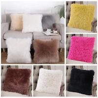 Soft Fluffy Plush Square Cushions Cover Pillow Case Sofa Car Throw Home Decor