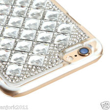 """iPhone 6 (4.7"""") Snap Fit Back Cover 3D Bling Gem Case Silver Diamond"""