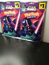 Star Wars -Play Pack Grab & Go Coloring Book - Stickers - Crayons - Disney -New