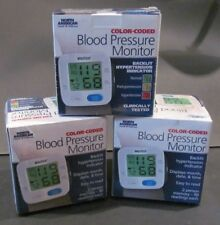 NORTH AMERICAN HEALTH WELLNESS COLOR-CODED BLOOD PRESSURE MONITOR